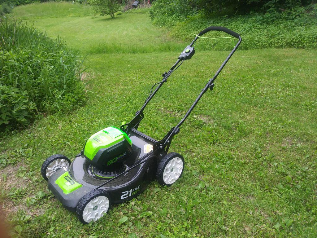 Image or Greenworks 80 volt cordless mower