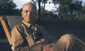 Image of seated Aldo Leopold