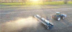 Image of planter crossing farm field.
