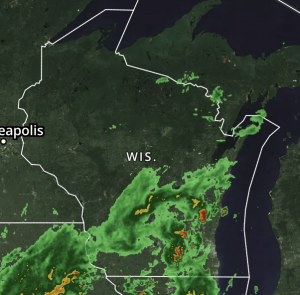 Image of Wisconsin weather radar map. Radar can now also track migration, as well.